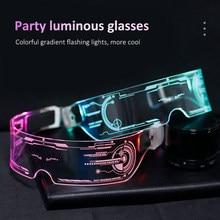LED Brille Draht Neon Party LuminousColorful EL Draht Leucht Gläser Neon Party LED Licht Up Visier Brillen DJ Party