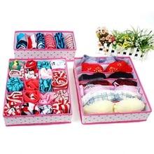 Foldable Divider Storage Bra Box Lidded Closet Home Organizer 4pcs / set For Ties Socks Shorts Bra Underwear Divider Drawer