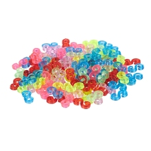 free shipping 1kg bag colorful s clips for diy loom bands bracelet clip s or c clips transparent refill loom kit New Amazing Loom Bands Pack of 125 Colorful S-Clips