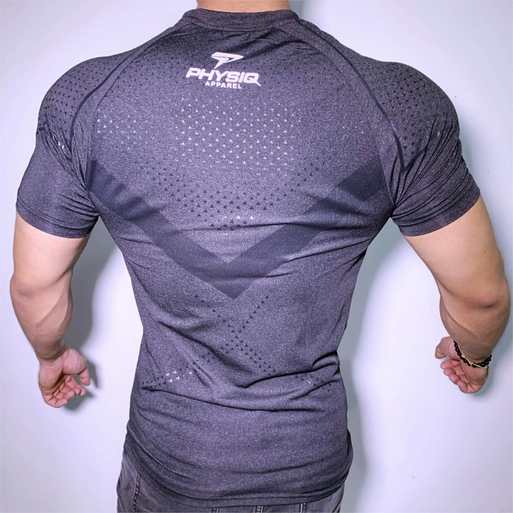New Running Sport T-shirt Mens Skinny Quick dry Shirts Gym Fitness Training Superelastic Tee Tops Male Jogging Workout Clothing 3