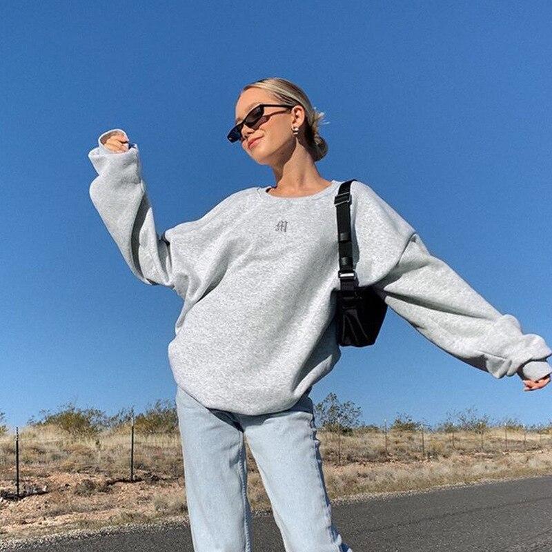 2021 Spring Sweatshirts Streetwear new Fashion Embroidery mushroom Indie Aesthetic 90s Long Sleeve Summer Hoodies clothes 7