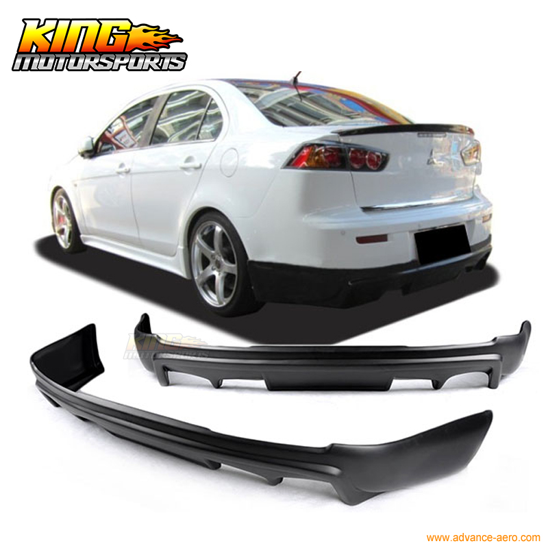 fit for 08 15 mitsubishi lancer b style pp rear bumper lip spoiler bodykit bumper lip spoiler rear bumper lipbumper lip aliexpress bumper lip spoiler rear bumper