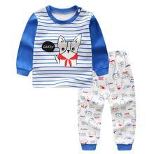 Г. Новые детские пижамы на весну и осень домашняя одежда для мальчиков и девочек, Детская осенняя одежда, комплект нижнего белья