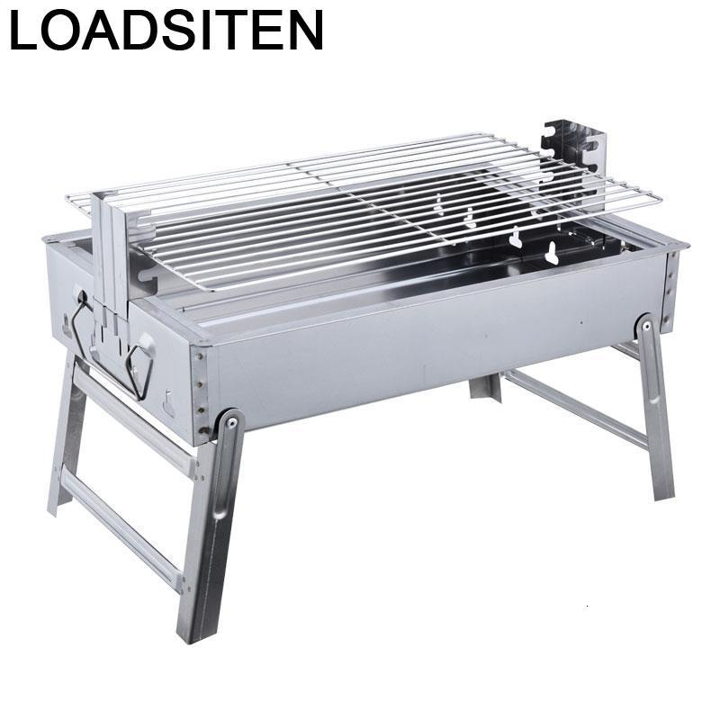 Kitchen Gril Outdoor Camping Barbecue Rotisserie Churasqueira Mini Carbon Charcoal Parrilla Churrasqueira Kebab Bbq Grill
