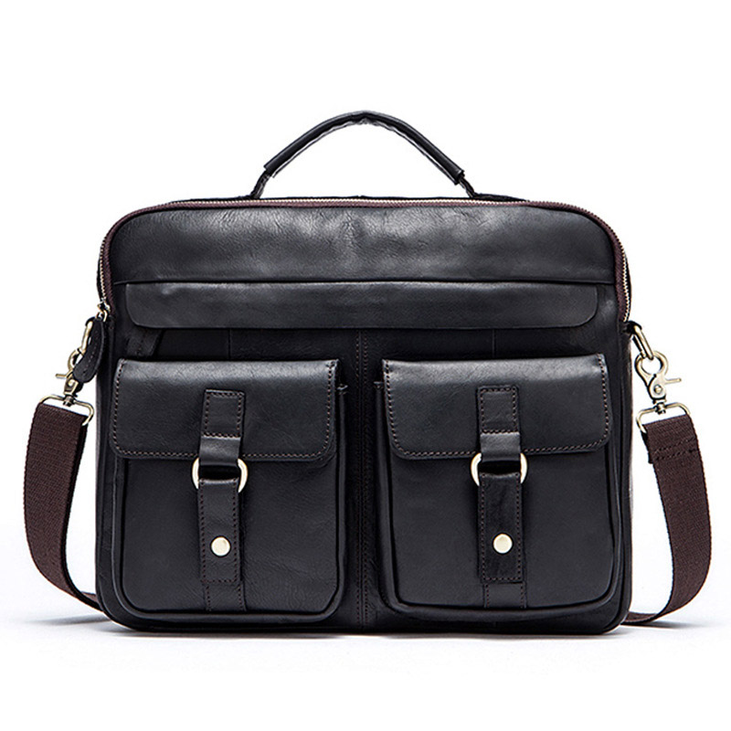 Factory Direct Brand High-grade Leather Crazy Horse Leather Retro Men's Shoulder Bag First Layer Leather Men Handbags