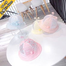 47-48cm 1y-2y  baby girl hat kids beanie infant girls hats toddler photography props sun