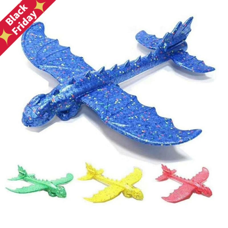 48cm Hand Launch Throwing Glider Aircraft Inertial Foam EPP Airplane Dinosaur Train Dragon Plane Model Outdoor Educational Toys