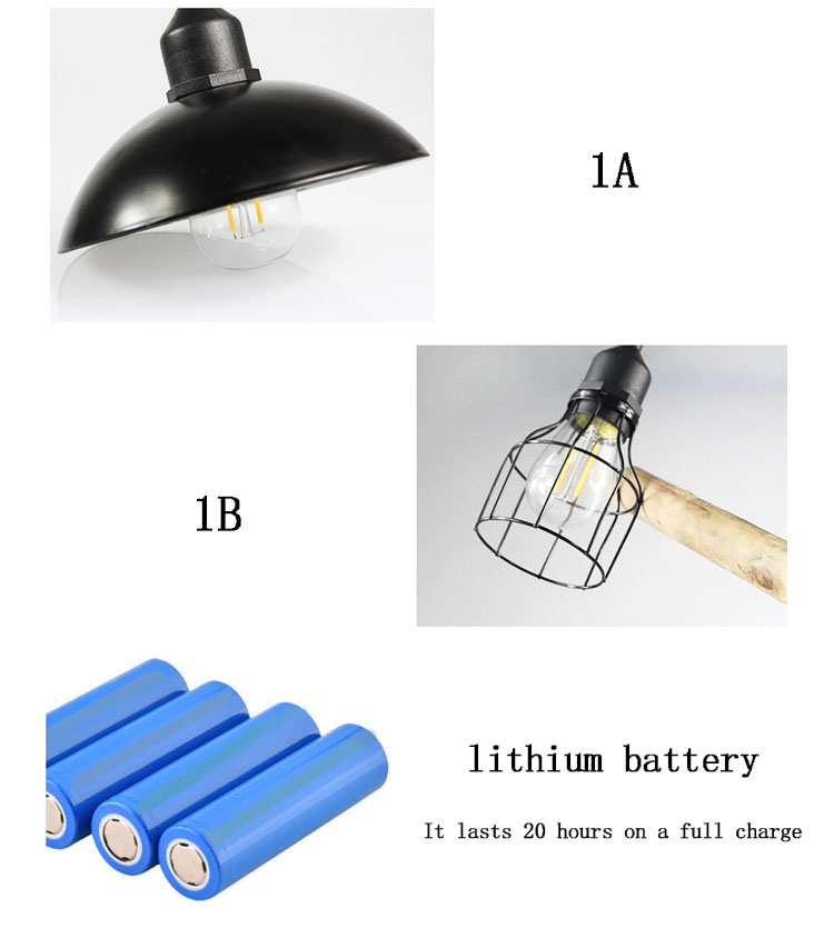 retro abajur solar lâmpada led 3 metro