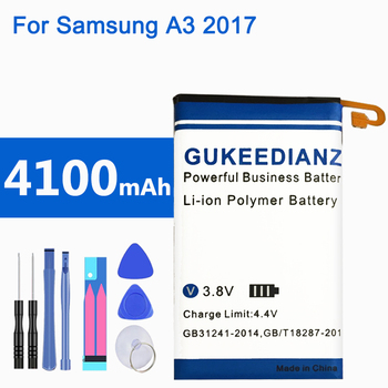 GUKEEDIANZI EB-BA320ABE Original Replacement Phone Battery For Samsung Galaxy A3 2017 A320 A320F 4100mAh Genuine Phone Battery image