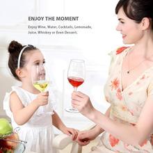 HXM 1/2/4/6 pcs/set Unbreakable Wine Glasses Tritan PVC Shatterproof Wine Goblets  Juice Wine Drinking Glasses Cups Home Wedding