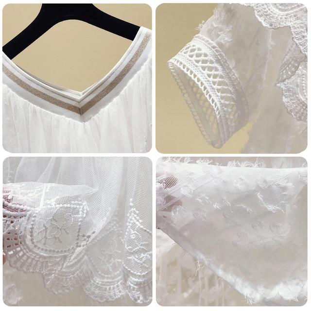 Summer new falbala splicing v-neck thin chiffon unlined upper garment of female design sense of western style sweet show thin co 4
