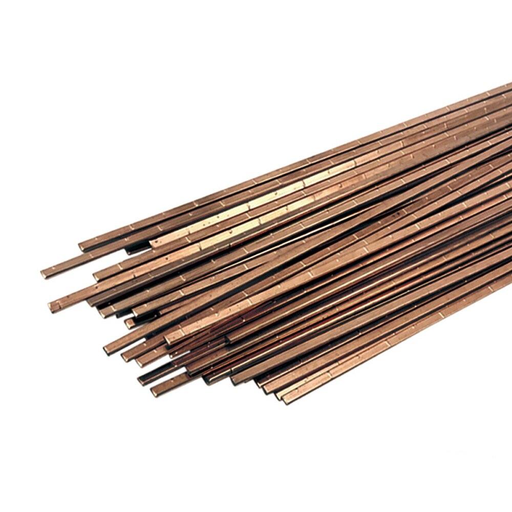 New 5/10/20Pcs 1.0mm/2.0mm*500mm Brass Welding Rod Bronze Welding Wire Electrode Soldering Rod No Need Solder Powder Welding Rod