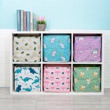 2020 neue Folding Bettwäsche Stoff Lagerung Korb Cube Kinder Kleidung Lagerung Box Wasserdichte Wäsche Korb Für Spielzeug Organisatoren