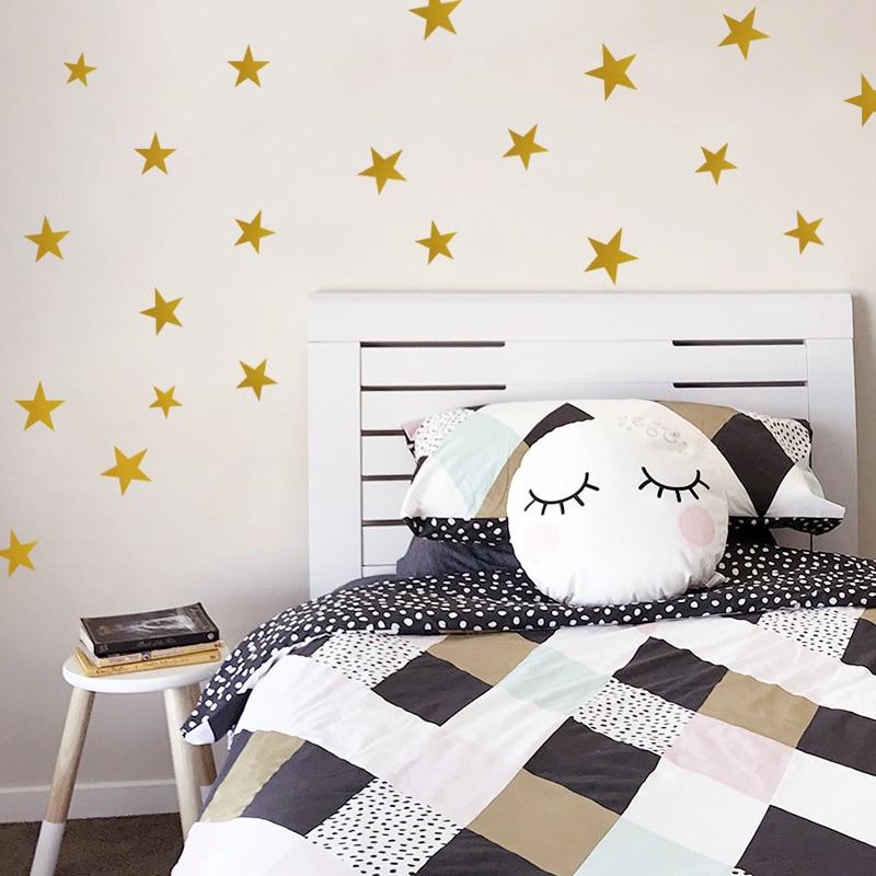 Super Deal #3e38 - Creative Gold Stars Wall Decals Bedroom ...