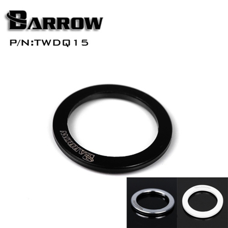 Barrow TWDQ15 Black / Silver / White Save 1.5MM Miniature Threaded Washer Water Cooling Fittings