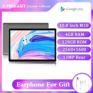 Newest Teclast M18 10.8 inch Tablets 4GB RAM 128GB ROM MT6797X X27 Deca Core 2560x1600 IPS Screen Dual 4G Android 8.0 Tablet pc