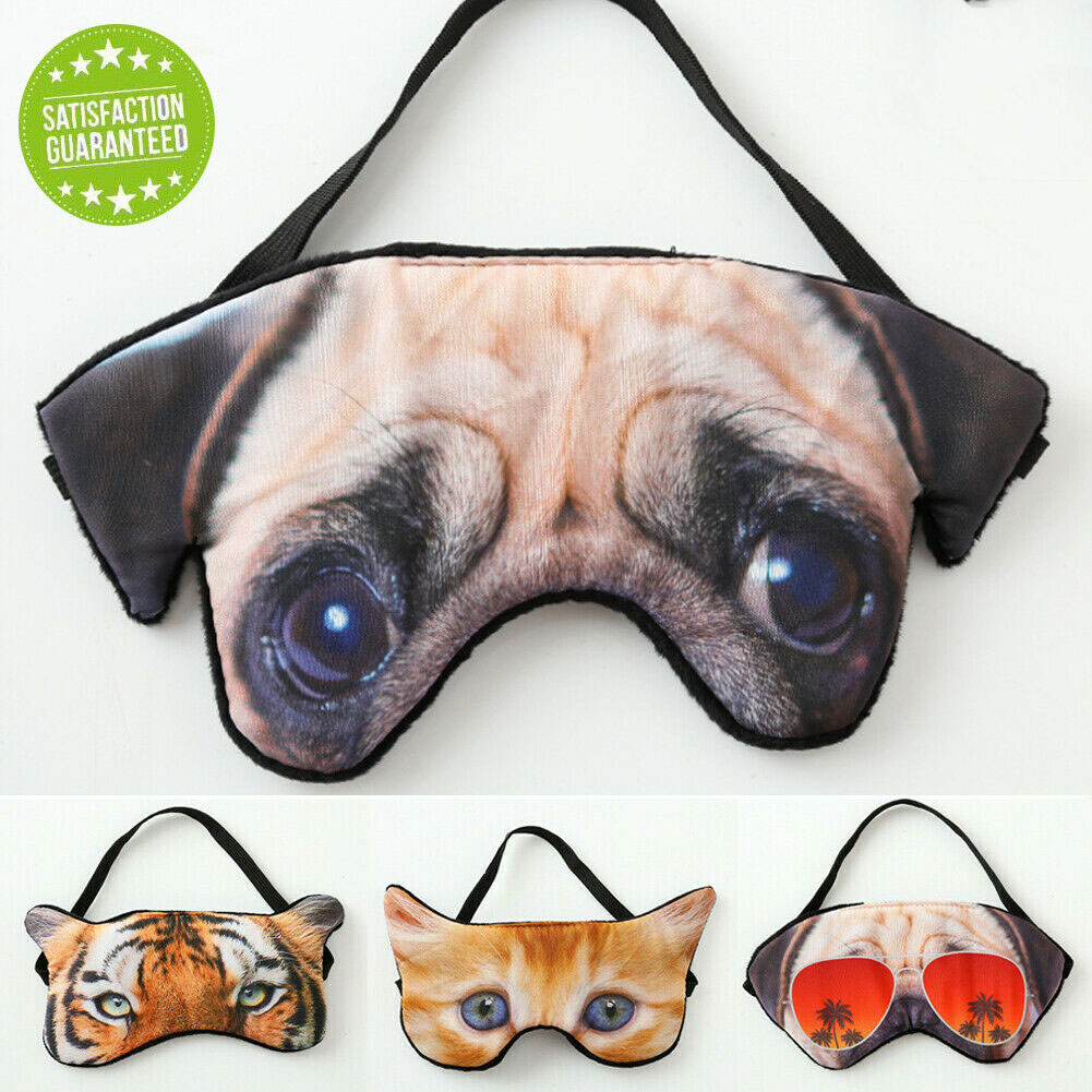 Travel Home Eye Mask Cartoon 3D Cute Kids Teen Blindfold Fashion Animal Sleep Mask Eye Shade Cover