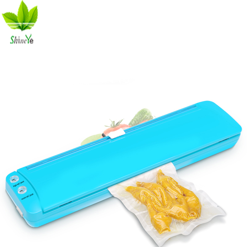 ShineYe Vacuum Sealer Lite Built-in Cutter 220V/110V Automatic Food Packing Machine 10 Free Bags Vacuum Packer For Kitchen