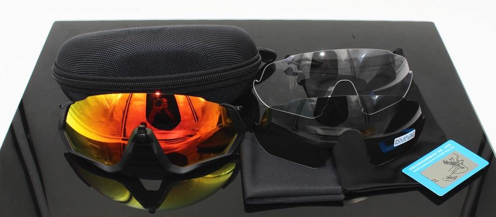 Flight Jacket 3 Lens Polarized Light Sports Glasses For Riding Mountain Bike Windproof Sand