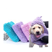 Multipurpose Pet Cat Dog Soft Bath Towel Cleaning Wipes Magic Hair Dry Blanket FIber chenille Puppy Grooming