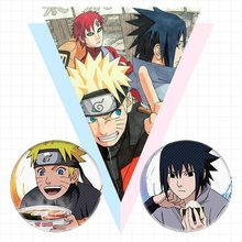 NARUTO Anime Brooches Button Badges Pins Set for Clothes Backpack(China)
