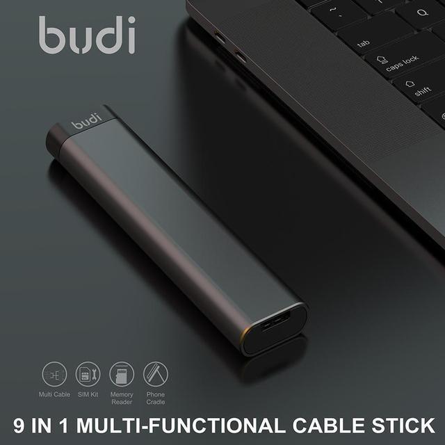 Budi multi-função adaptador inteligente cartão de armazenamento cabo de dados tipos tf usb leitor 6 kit cartão sim multi-cabo caixa de memória