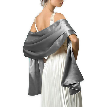 16 Colors Shrugs for Women Evening Cape Dress Wraps Shawls 240*70cm Satin Long Formal Wedding Party Prom Ladies Bolero - discount item  29% OFF Wedding Accessories