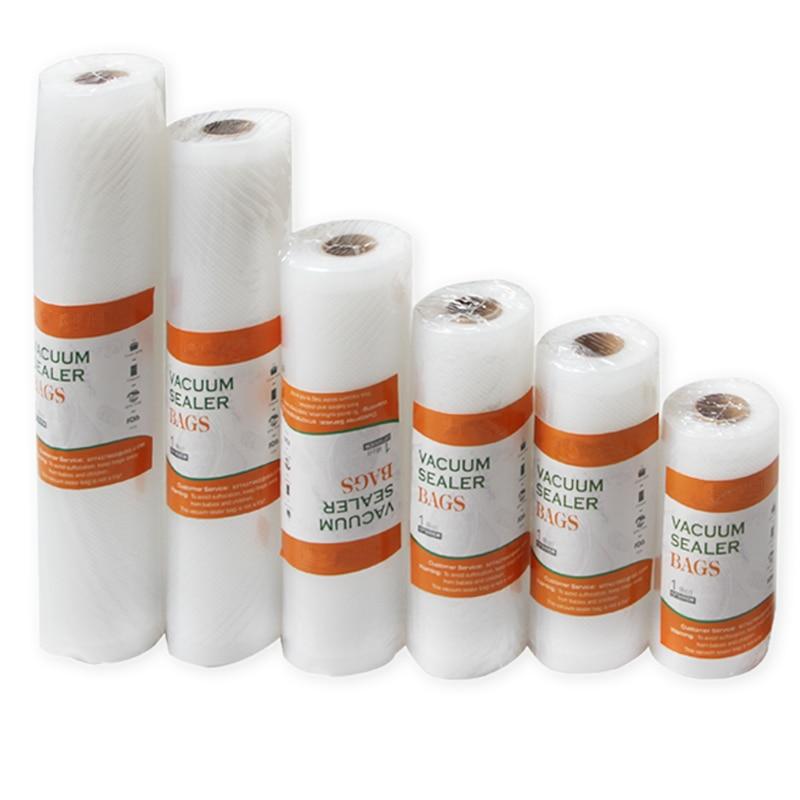 Vacuum Bags For Food Vacuum Sealer  12+15+17+20+25+28cm*500cm 6 Rolls/Lot  Kitchen Food Vacuum Storage Bags