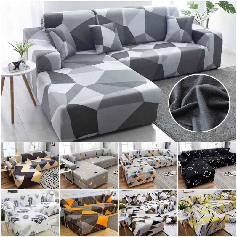 Chaise Longue Sofa Cover L-shaped Needs Order 2pieces Stretch Sofa Cover Universal Stretch Corner Sofa Cover Sectional Slipcover