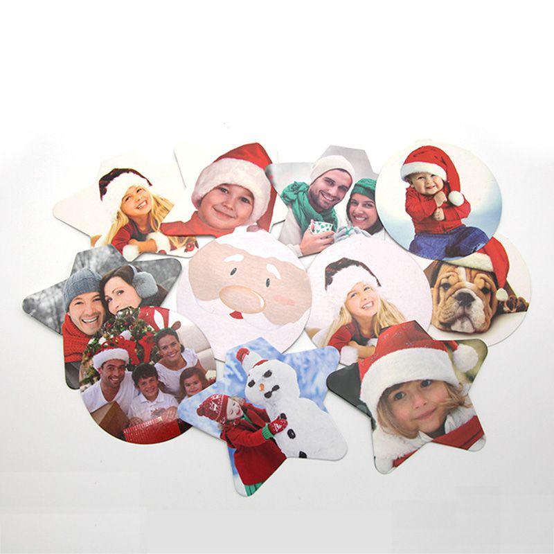 DIY прозрачный кулон-фоторамка Снеговик пятизвездный шар Рождественская елка подвесные украшения Рождественские украшения для дома