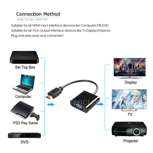 Image 3 - Fgclsy hdmi vga アダプタコンバータオス famale 1080 1080p デジタルアナログビデオオーディオアダプター pc のラップトップタブレットにテレビ