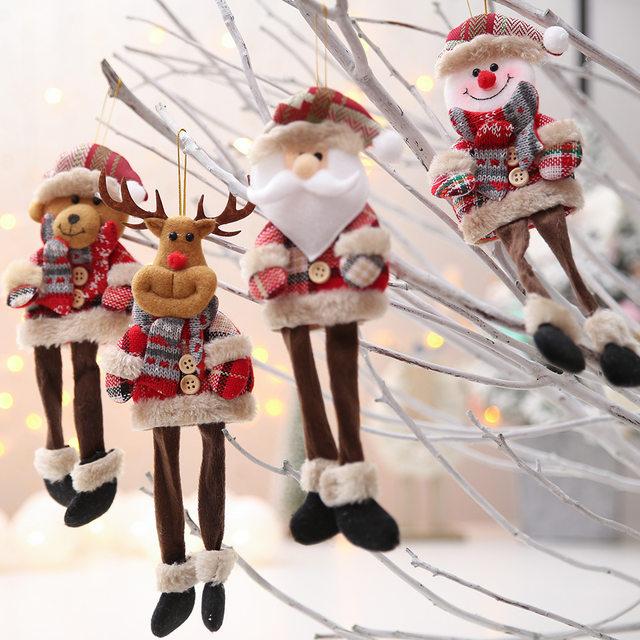 New Year 2020 Cute Santa Claus/Snowman/Angel Christmas Dolls Noel Christmas Tree Decoration for Home Xmas Navidad 2019 Kids Gift 14
