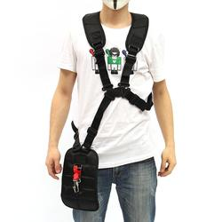 Lawn Mower Double Shoulder Harness Strap Adjustable Nylon Black Harness Belt Garden Grass Trimmer Accessories
