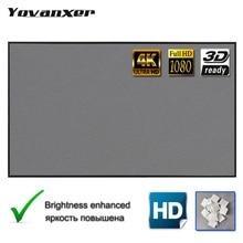 Projektor Bildschirm 92 100 110 120 133 Zoll 16:9 4K HD Faltbare Tragbare Projektion Filme Vorhang Theater Outdoor Indoor