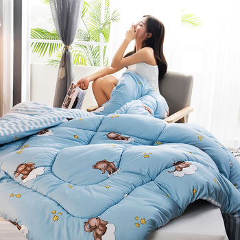 High Quality Winter Comforter Luxury Soft Warm Blanket Multicolor Choose 100% Feather Fabric Quilt Duvet King Queen Twin Size