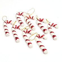 Cane Christmas-Tree-Ornaments for New-Year XMAS Party Kids/gift Hanging-Candy Crutch-Pendant-Decor