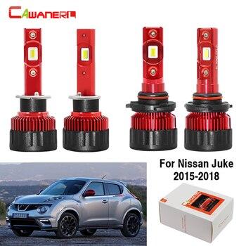 Cawanerl 4 Pieces Auto LED Headlamp Bulb 9000LM White 12V Car Headlight High Low Beam For Nissan Juke 2015 2016 2017 2018