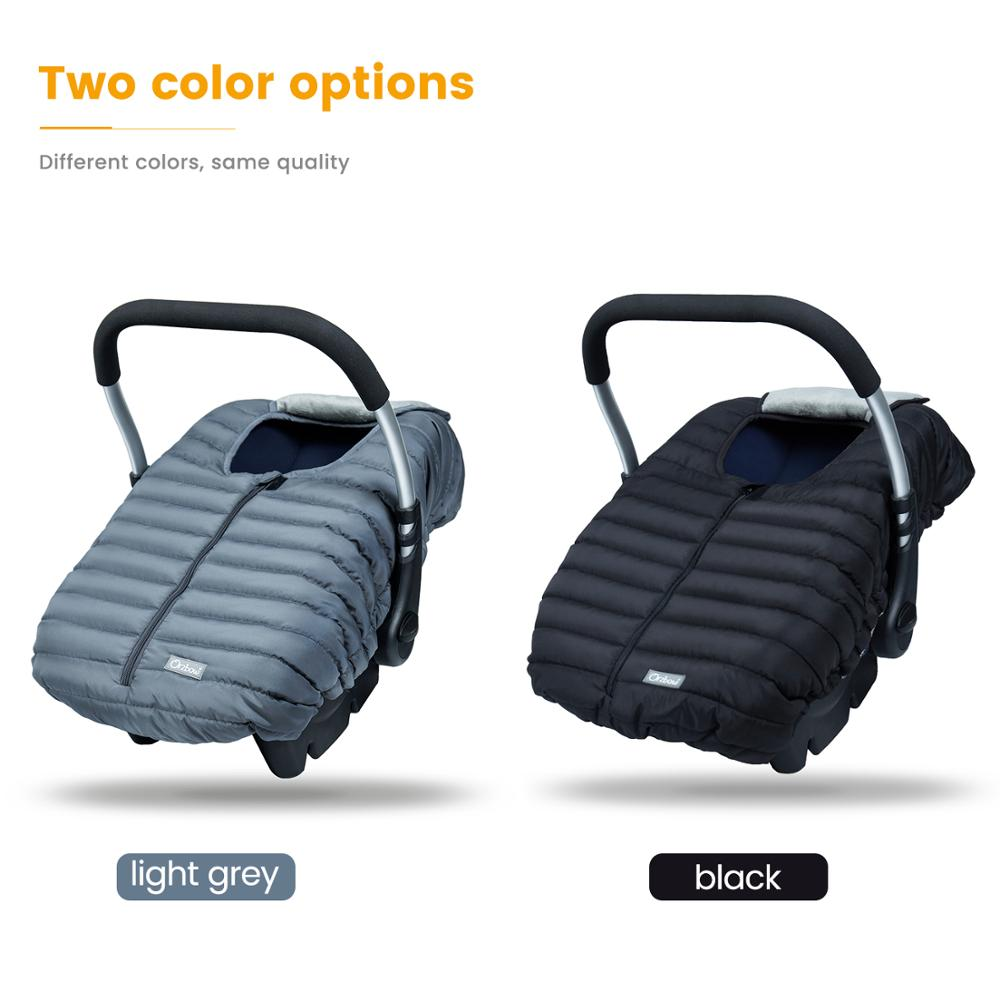 Orzbow Baby Basket Car Seat Cover Warm Newborn Infant Carrier Cover Waterproof Baby Car Seat Envelope Newborn Footmuff in Travel 6