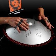Hluru 2021 New Type Steel tongue drum 14 inch 9 note D minor handpan percussion instrument hand drum Yoga Meditation Beginner
