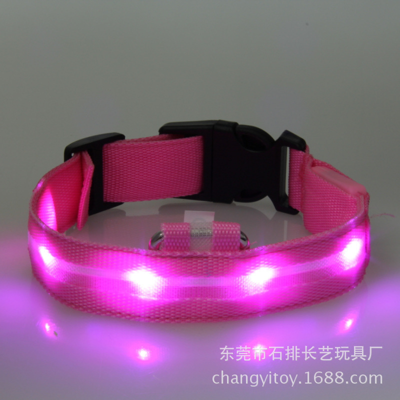 [Stunning Style] Europe And America Ultra-Thin Nylon Hot Hot Sales Glowing Dog Collar Pet Supplies