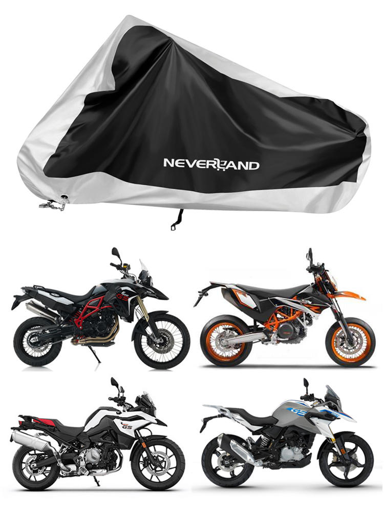 Cover Motorcycle-Covers Sun-Snow Waterproof Uv-Protector XXXL Silver Coat Black Dust