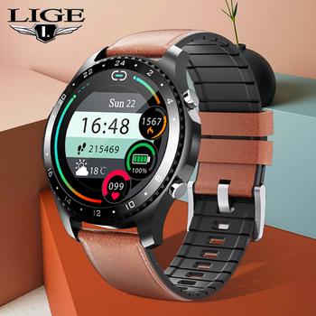 LIGE 2020 inteligentny zegarek Bluetooth zadzwoń ciśnienie krwi tlen Monitor temperatury ciała Fitness sport zegarek kobiety mężczyźni Smartwatch tanie i dobre opinie CN (pochodzenie) Android Na nadgarstek Zgodna ze wszystkimi 128 MB Krokomierz Rejestrator aktywności fizycznej Rejestrator snu