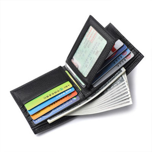 Image 2 - Youpin New Korean Casual Mens Wallet Business Stereo Multifunctional Luxury Pure Pu Leather British Folding Card Case