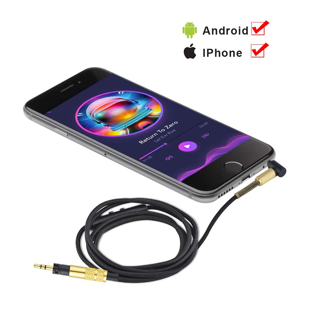 Upgrade Replacement Stereo Audio Cable Extension Music Cord For Sennheiser Momentum 2.0 HD1 Over On Ear Headphones 1.2meters Pakistan