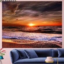 Beach at dusk sea tapestry Scenic Wall Hanging  farmhouse decor sun goblen landscape boheme Polyester Yoga mat beach tapestry island beach scenic wall art decor tapestry