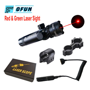 Лазерная указка зеленая/красная точка тактический охотничий винтовочный пистолет лазерный внешний лазерный прицел высокомощный переключ...