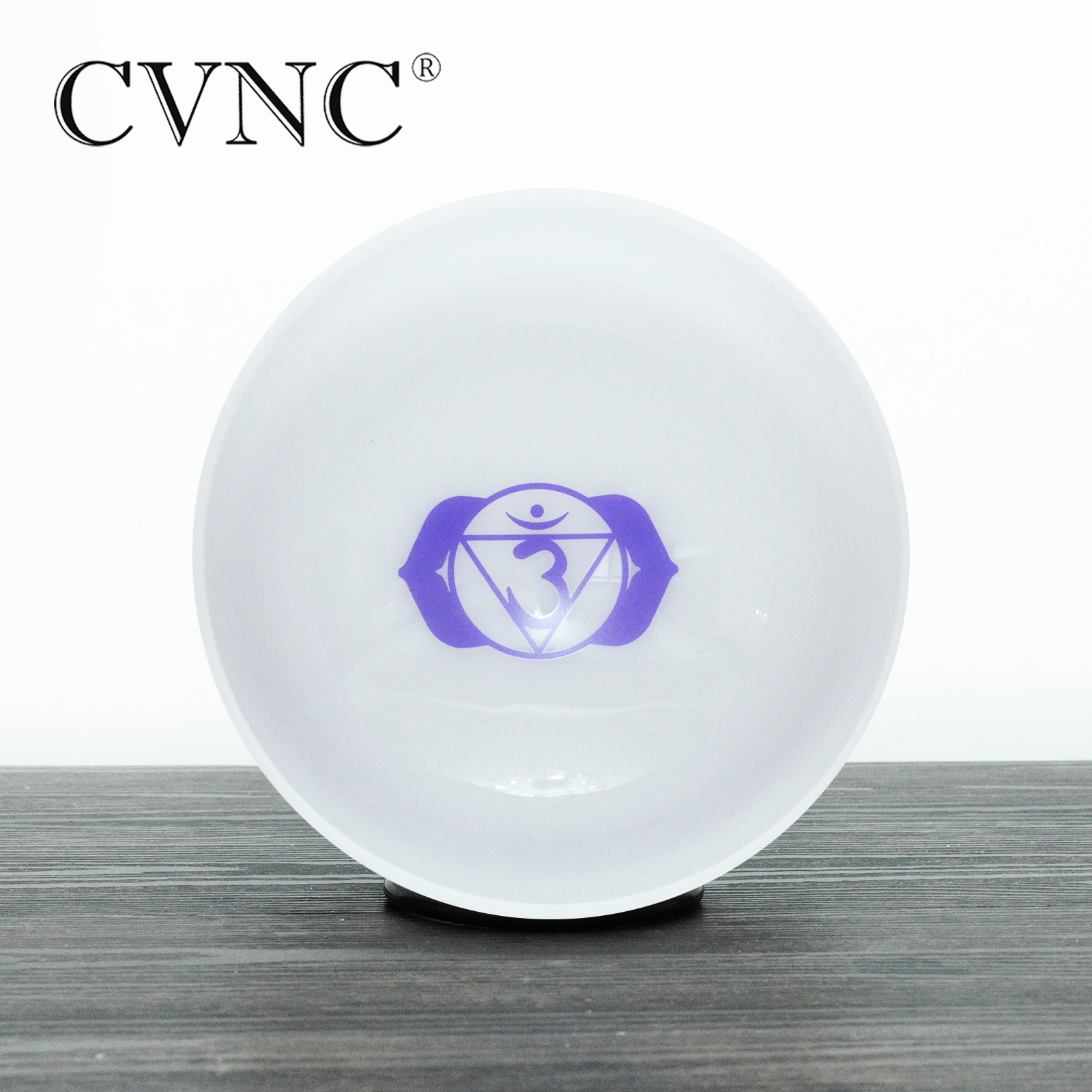 Singing Bowls Frosted A Note Third Eye Chakra Rainbow Colored Quartz Crystal Singing Bowl 8 Inch Musical Instruments