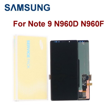 ORIGINAL SUPER AMOLED with frame For SAMSUNG Galaxy Note 9 Note9 N960F N960D Display Touch Screen Digitizer Assembly+Dead pixel with line original amoled display for samsung galaxy note9 lcd n960 n960f display touch screen replacement parts screen