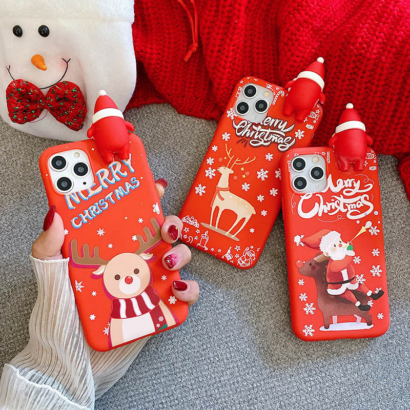 Christmas Santa Claus Soft TPU Case for Oneplus 8 Pro Doll Phone Case For Oneplus 7 Pro One plus 6 6t 7t Cover Capa fundas|Fitted Cases|   - AliExpress