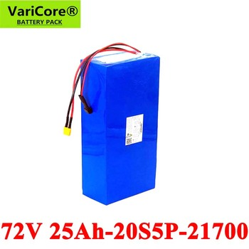 VariCore 72V 20S5P 25Ah 1500W 2500W electric bike battery 21700 74V electric scooter lithium battery with BMS Protection